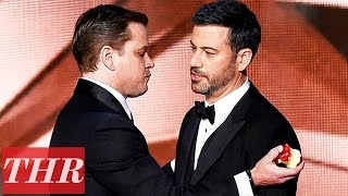 Matt Damon Roasts Jimmy Kimmel On Stage After Emmy Loss | THR News