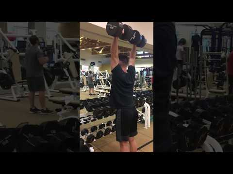 80LB Standing Dumbbell Shoulder Press 1x7