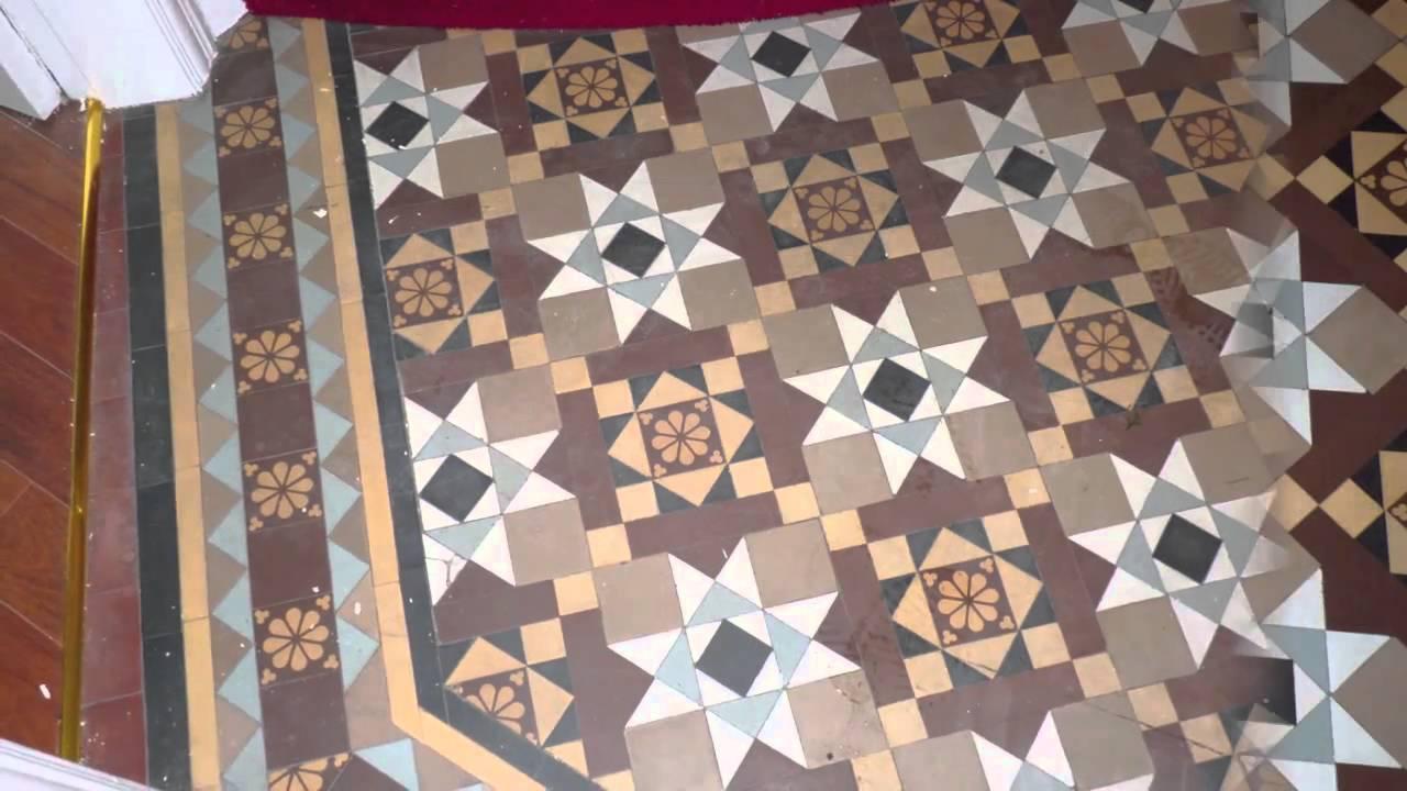 Victorian Minton Floor Restoration Newark Nottinghamshire Hd Youtube