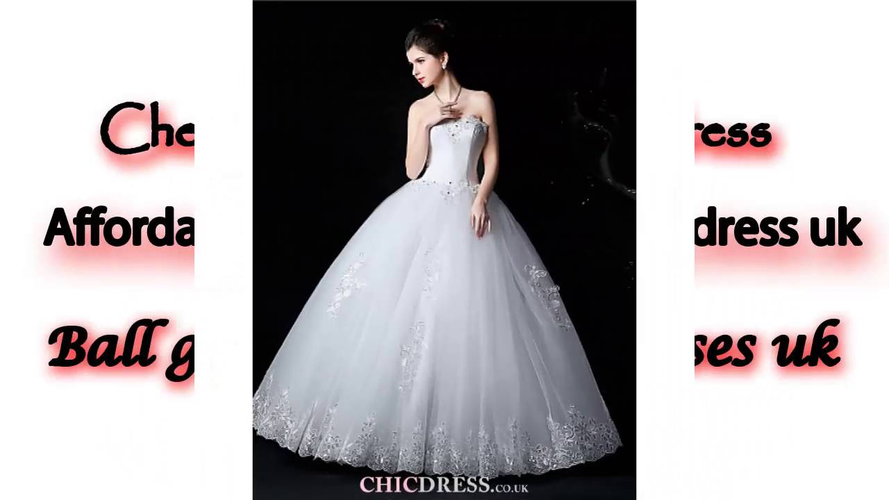 Affordable ball gown wedding dress uk - YouTube