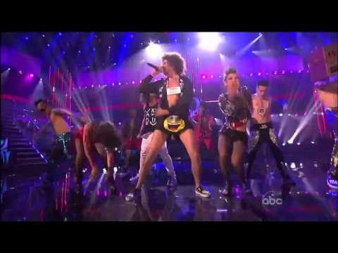LMFAO - Party rock  with Justin Bieber AMA 2011