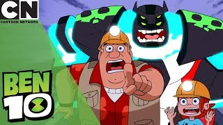 Ben 10   Tense Minecart Chase   Cartoon Network