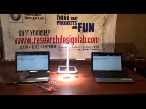Visible Light Communication(LIFI) BASED PC TO PC COMMUNICATION