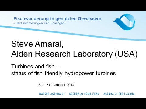 Steve Amaral: Turbines and fish - status of fish friendly hydropower turbines (e)