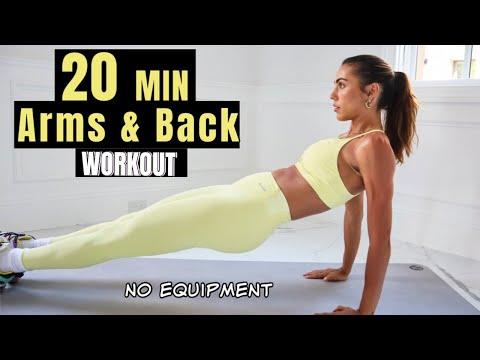10 MIN Arms & Back Workout // Sexy & Toned // Sami Clarke #FitAtHome