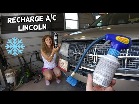HOW TO RECHARGE AC SYSTEM ON LINCOLN MKX MKS MKT MKZ NAVIGATOR AC  NOT WORKING FIX