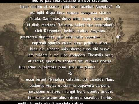 Virgil's Second Eclogue interpreted with music (Latin w/ english subtitles)