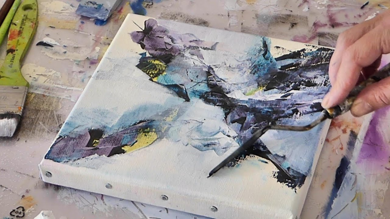 Abstract Art Painting Peinture Acrylique Abstraite Althea Youtube