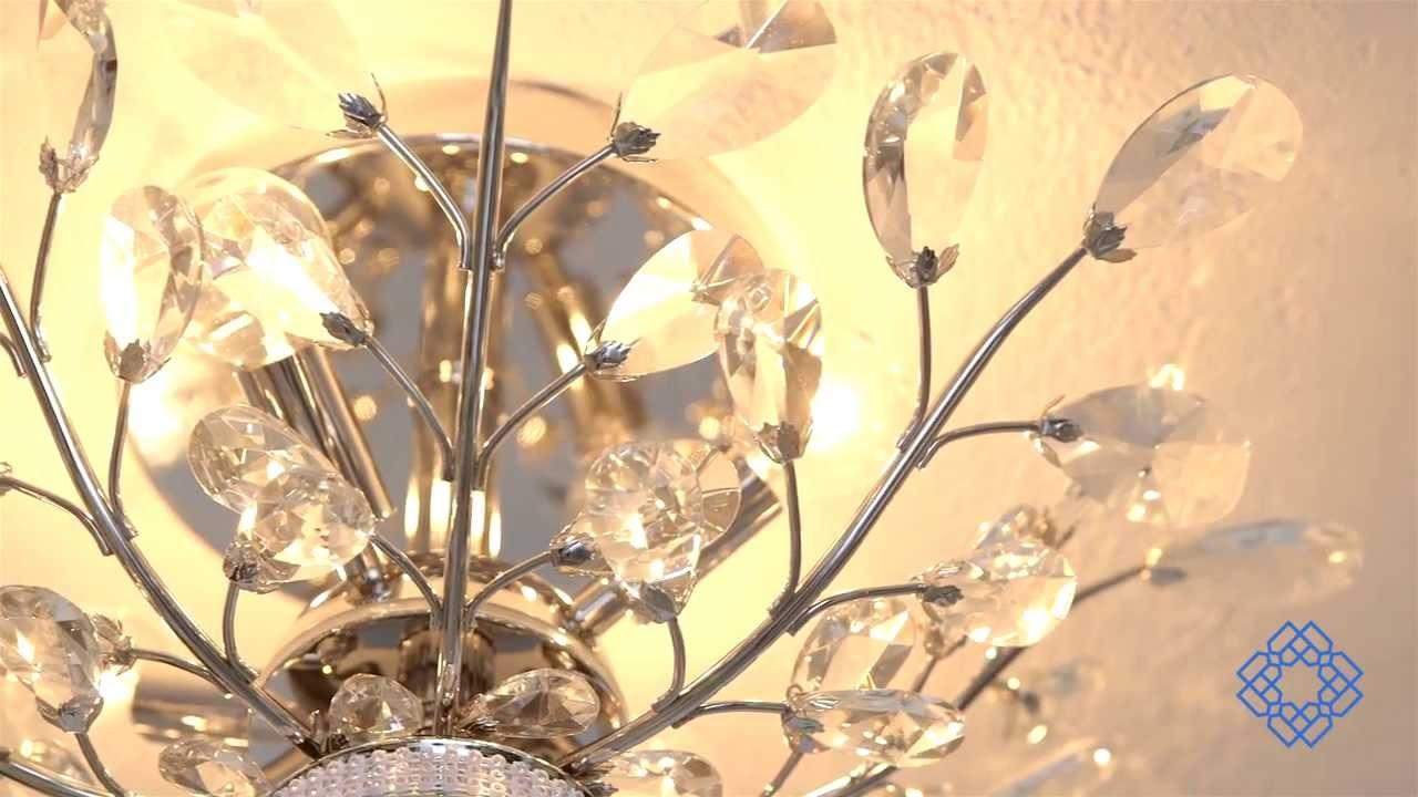 Elegant Lighting Orchid Four-Light Flush Mount - Bellacor  sc 1 st  YouTube & Elegant Lighting Orchid Four-Light Flush Mount - Bellacor - YouTube