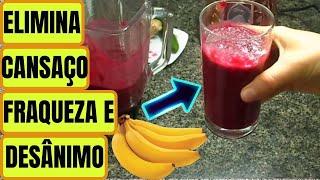 Banana E Beterraba – Acaba Com A Anemia, Cansaço, Melhora Visão E A Pele