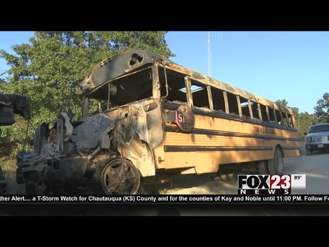 VIDEO: Stolen Twin Hills school buses found burned