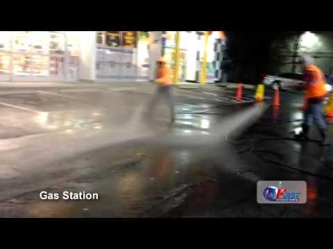 Gas Station Pressure Washing