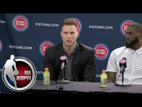 Blake Griffin's first news conference as Detroit Piston | NBA on ESPN