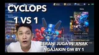 BY 1 CYCLOPS WITH SUBSCRIBER - Mobile legends indonesia