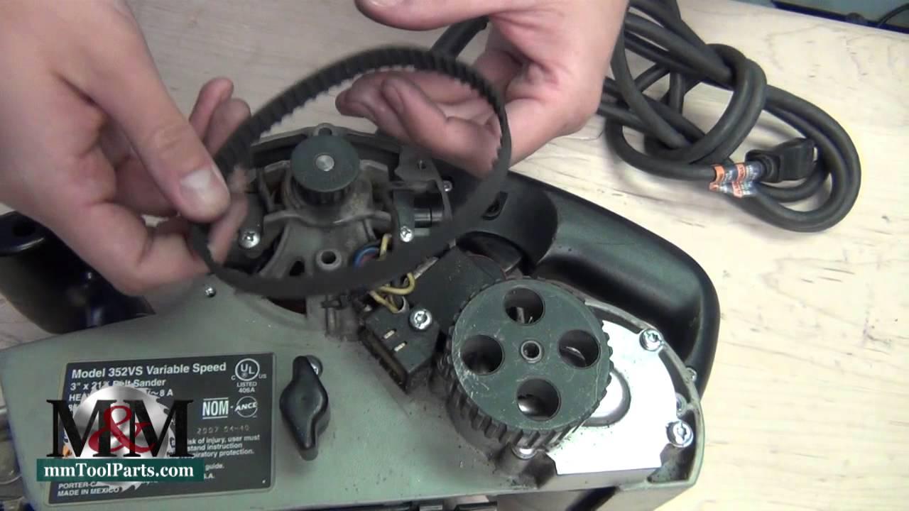 Porter Cable 352vs Belt Sander Belt Replacement Youtube