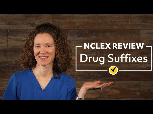 Drug Suffixes | NCLEX Review