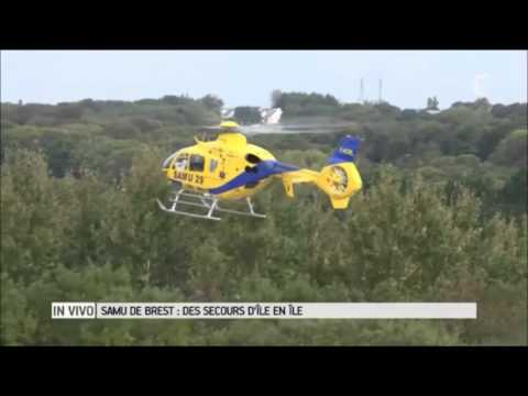 reportage samu 29 (smur héliporté) au CHRU de Brest