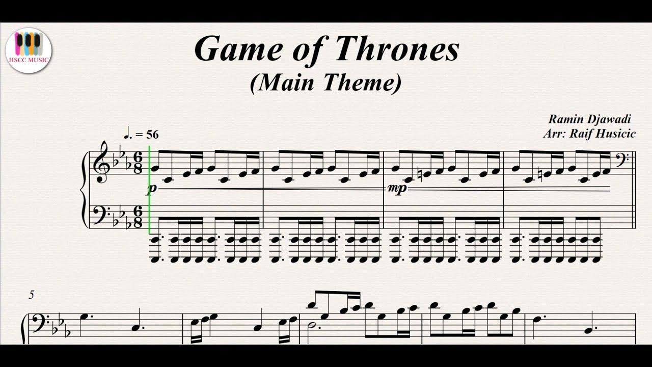 Game Of Thrones Titelmusik Klaviernoten game of thrones (main theme), piano