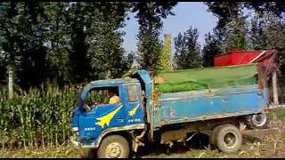 Tractor rear Mounted Maize Harvester Made in China