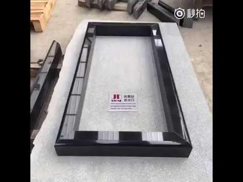 Black Granite Frame for Cemetery Flower Pot - YouTube
