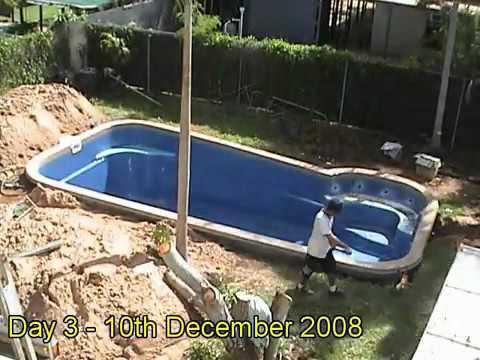 Fibreglass Pool Installation Youtube