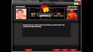 WMMA 3 Game Diary-Dawn of MMA-Event 1