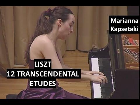 Liszt 12 Transcendental Etudes (Complete) - Piano: Marianna Kapsetaki - Live in Athens