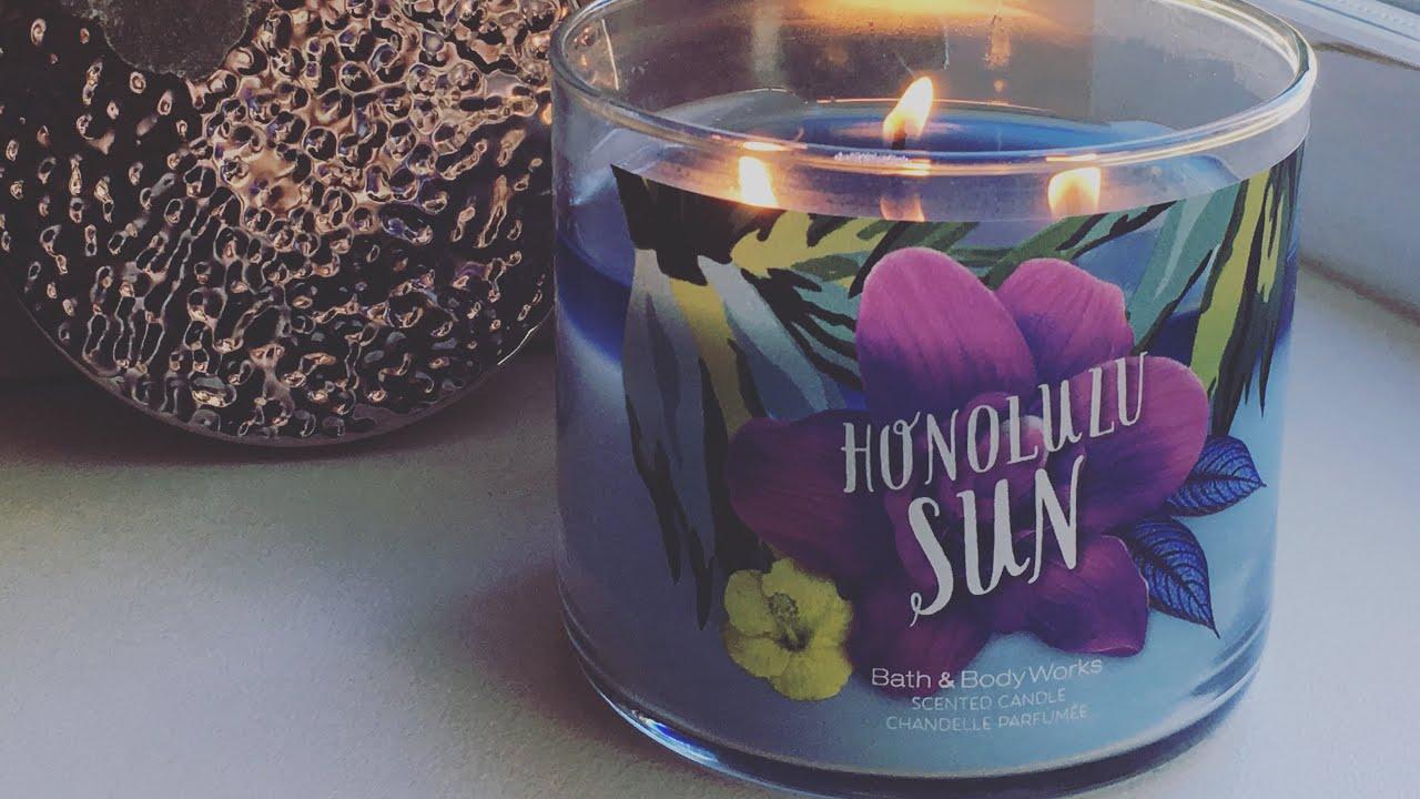 Tbt Candle Review Bath Body Works Honolulu Sun