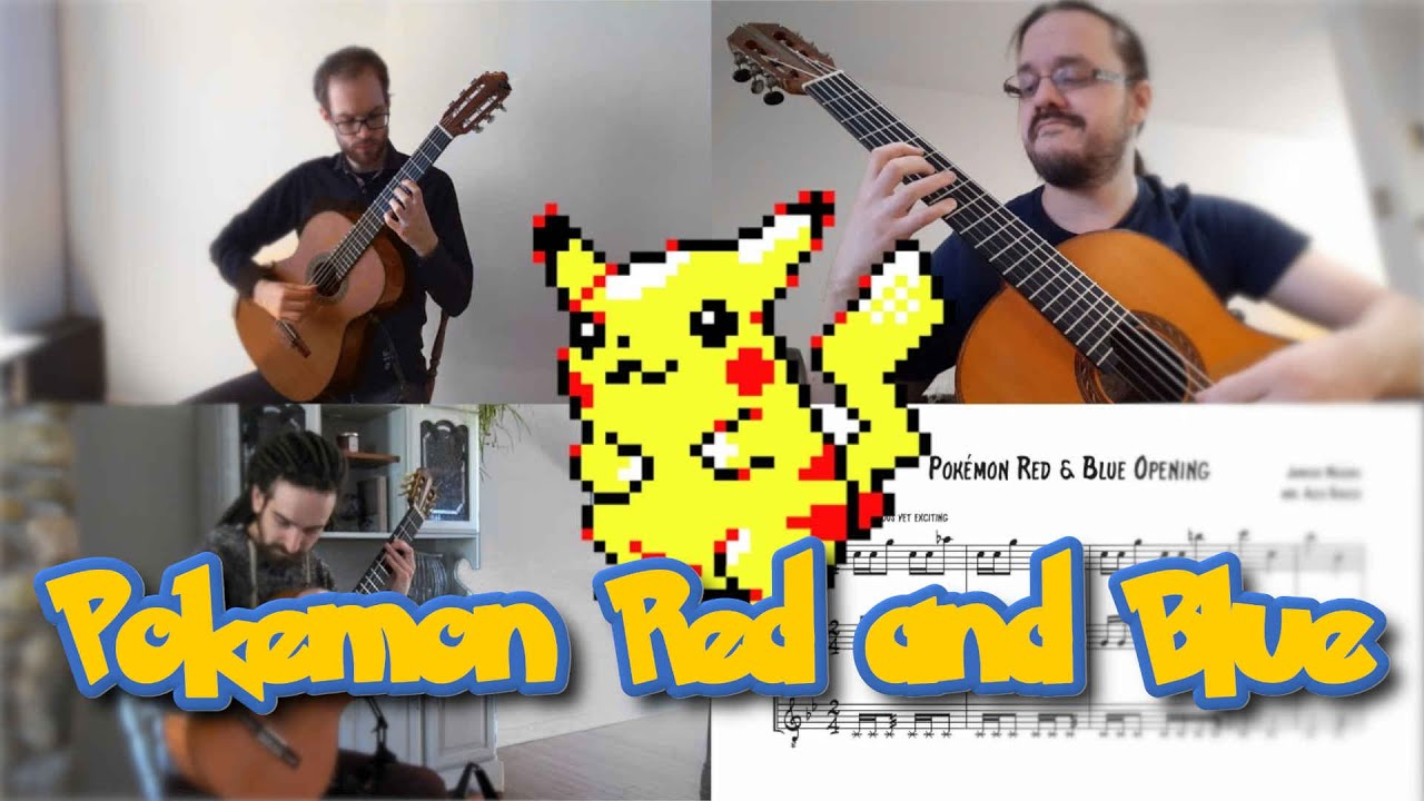 Pokémon Red and Blue: Opening and Title Theme (Ottawa Guitar Trio)