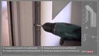 Установка стеклянной двери и алюминиевого короба в пенал OPENSPACE UNICO(, 2014-10-14T14:10:45.000Z)
