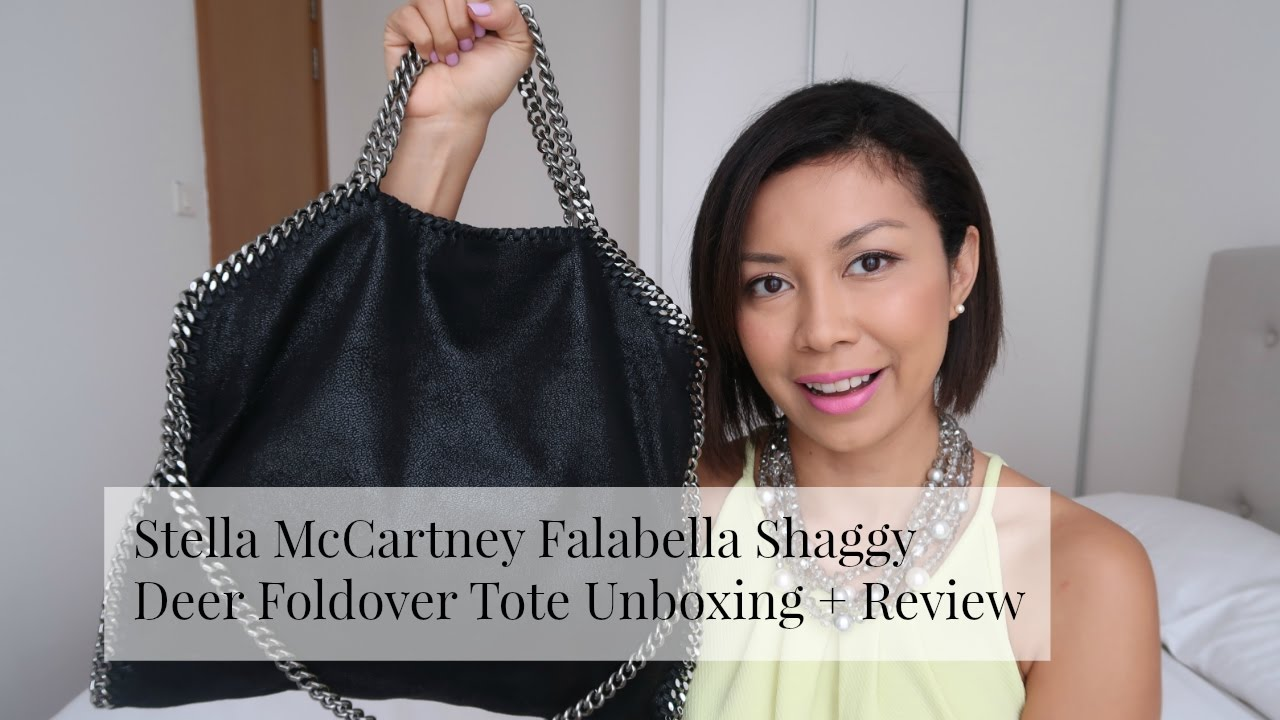 07740f8bb1 Stella McCartney Falabella Shaggy Deer Fold Over Tote Review - YouTube
