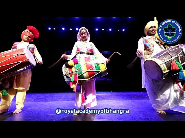 Dhol | Royal Academy of Bhangra | Ishaan | Gursimar | Vijay Yamla| 2019