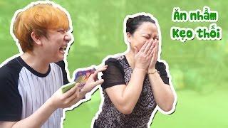 TROLL CẢ GIA ĐÌNH ANH BỐN MẮT BẰNG KẸO THÚI - Phản Ứng Lần Đầu Ăn Kẹo Thúi