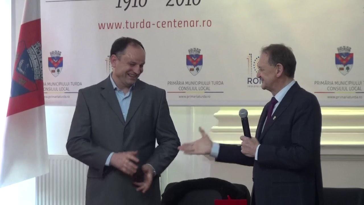 Anton Doboș - cetățean de onoare al Municipiului Turda (30.01.2020)
