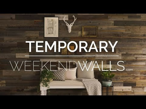 Weekend Walls - Peel and Stick Temporary Reclaimed Wood Wall