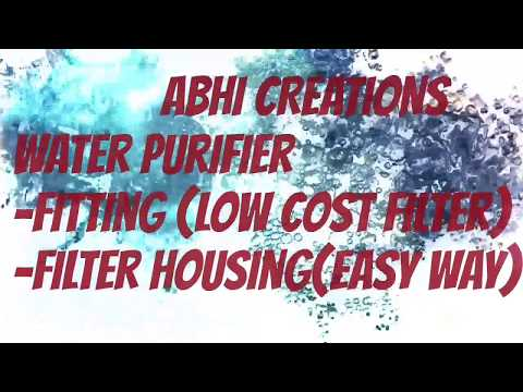 Fitting water filter or water purifier home (easy way) Filter housing
