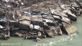 Water levels drop at the Niagara Whirlpool