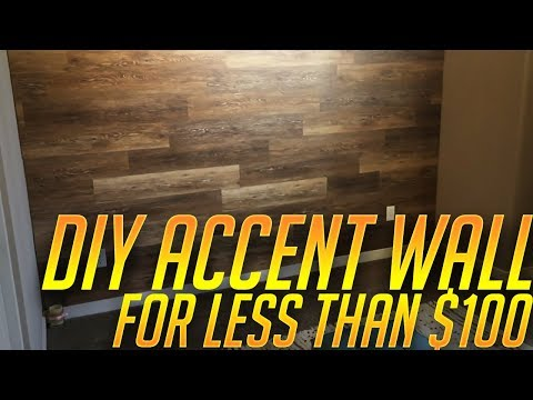 Easy DIY wood accent wall for less than $100 and 6 hours of work! (Part 1)