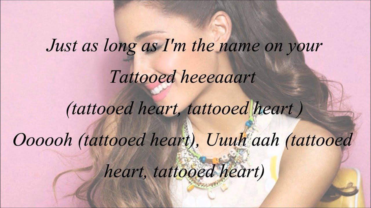 Tattooed Heart Lyrics By Ariana Grande