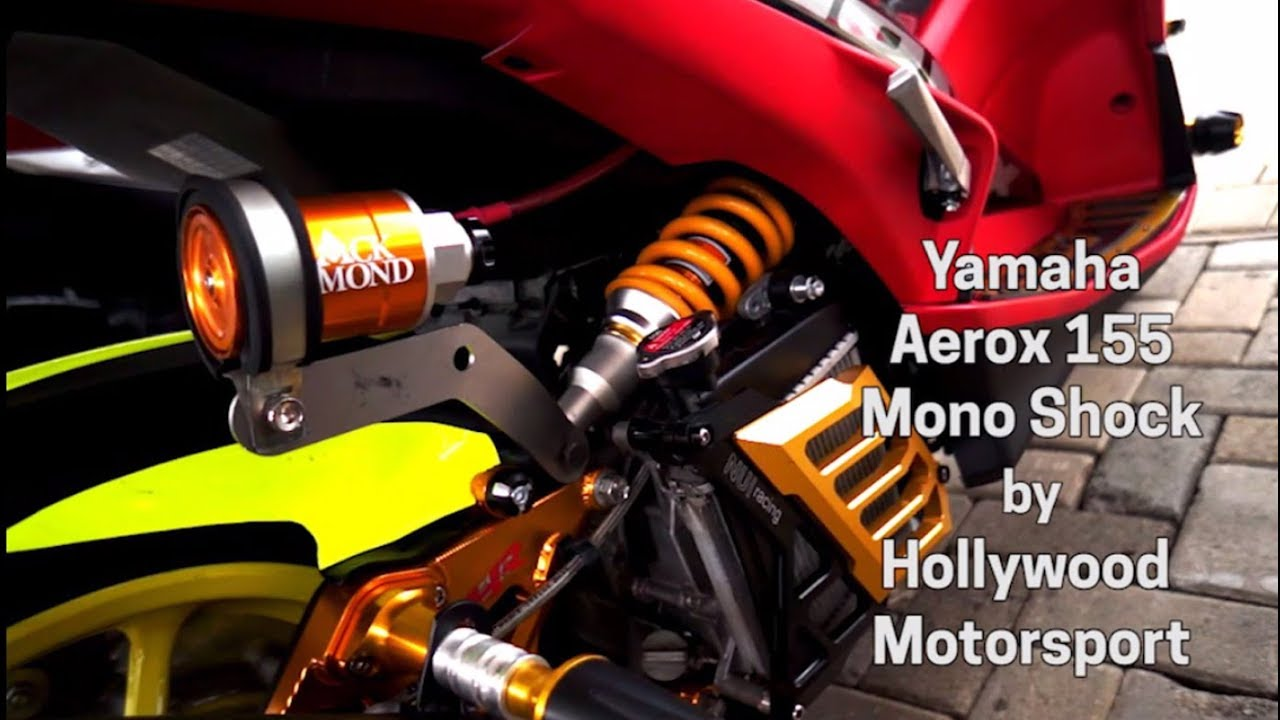 Keren Modifikasi Aerox 155 Mono Shock Youtube Breket Plat Nomor Motor Yamaha