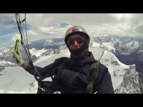 Circumnavigating the Zugspitze on an Ozone Rush4 paraglider