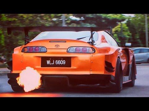 Toyota supra sound compilation Exhuast burnouts turbo antilag