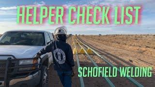 WELDER HELPER CHECK LIST-A MUST KNOW