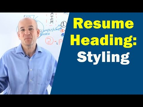 How to Write Your Resume Heading with Examples