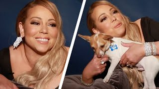 Mariah Carey Plays With Puppies While Answering Fan Questions