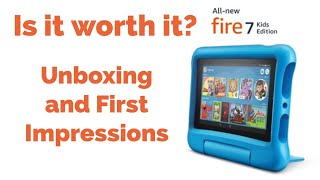 Amazon Fire 7 Kids Edition (New 2019 Model) - Unboxing and First Impressions