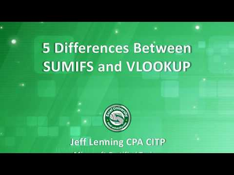 5 Differences between SUMIFS and VLOOKUP
