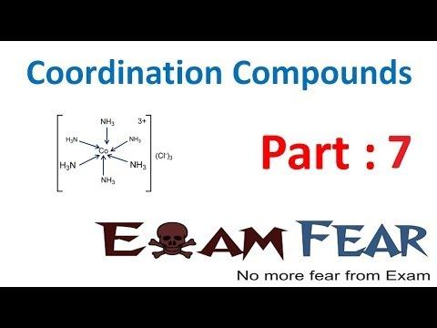 Chemistry Coordination Compounds part 7 (Nomenclature: Name of structure) CBSE class 12 XII