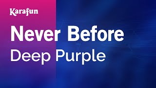 Karaoke Never Before - Deep Purple *