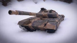 Танк на Радиоуправлении Т-90 Heng Long Обзор Тест по Снегу